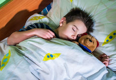 Child sleeps Stock Photo