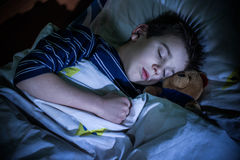 Child sleeps Royalty Free Stock Photos