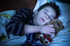 Child sleeps Royalty Free Stock Photography