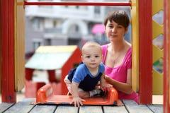 Child on slide Royalty Free Stock Photo