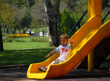 Child sliding Stock Photos