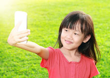 Child with smartphone Royalty Free Stock Images