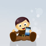 Child with smartphone Royalty Free Stock Image