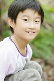 Child smile. The little girl with smile Stock Photography