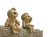 Child smile statue Royalty Free Stock Image