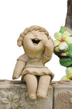 Child smile statue Royalty Free Stock Images