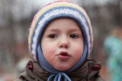 Child smiling. Little cheerful child boy happiness fun smiling Stock Images
