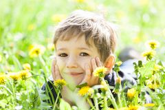 Child smiling Royalty Free Stock Images