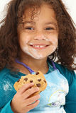Child Smiling Cookie Flour Royalty Free Stock Photo