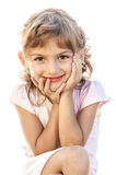 Child smiling girl portrait isolated Royalty Free Stock Photography