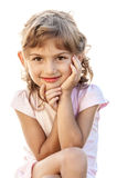 Child smiling girl portrait isolated Stock Photos