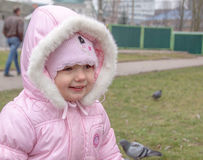 Child smiling outdoor Stock Image