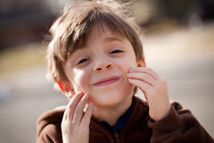 Child smiling portrait Royalty Free Stock Images