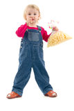 Child with snack Stock Photo