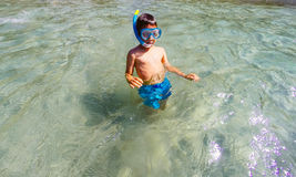 Child snorkeler Stock Image