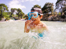 Child snorkeler Stock Photos