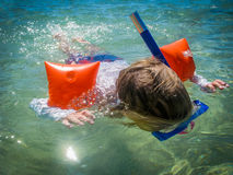 Child Snorkelling Stock Photos