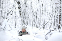 Child in the snow Royalty Free Stock Photography