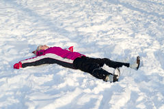 Child in snow Stock Image