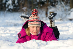 Child in snow Stock Photos