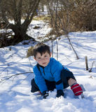 Child on the snow Royalty Free Stock Photo