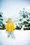 The child on snow Stock Photo