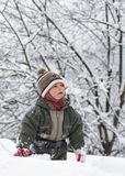 Child in snow Stock Photography