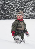 Child in snow Royalty Free Stock Image