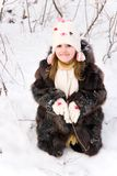 Child on the snow Royalty Free Stock Image