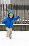 Child in snow Royalty Free Stock Images