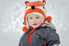 Child in Snow Royalty Free Stock Photos