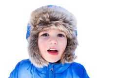 Child in Snow Hat, Winter Royalty Free Stock Images