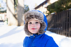 Child in Snow Hat, Winter Royalty Free Stock Photography