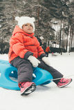 Child on the snow Royalty Free Stock Photography