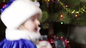 Child Snow Maiden stock footage
