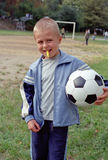 Child with soccer ball Royalty Free Stock Photos