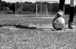 Child on Soccer Field Stock Photos