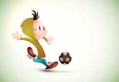 Child Soccer Player Playing Football royalty free stock photo
