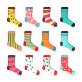 Child Socks Icons Vector. Colorful Socks Set Royalty Free Stock Photo