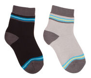 Child socks isolated on white. Clipping paths Stock Photo