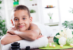 Child spa treatment Royalty Free Stock Image