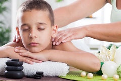 Child spa treatment Royalty Free Stock Photos
