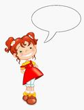 Child that speaks. Illustration of a female child that says something Royalty Free Stock Images