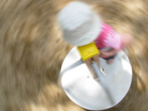 Child spinning  Royalty Free Stock Photography