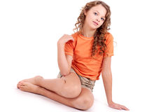 Child in sport's wear Stock Photos