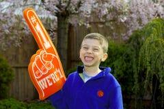 Child Sports Fan Stock Image