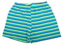 Child sports shorts. Isolated on white background Stock Photography