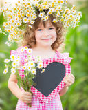 Child in spring Stock Photo