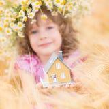 Child in spring Stock Photo