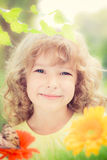 Child in spring Stock Image